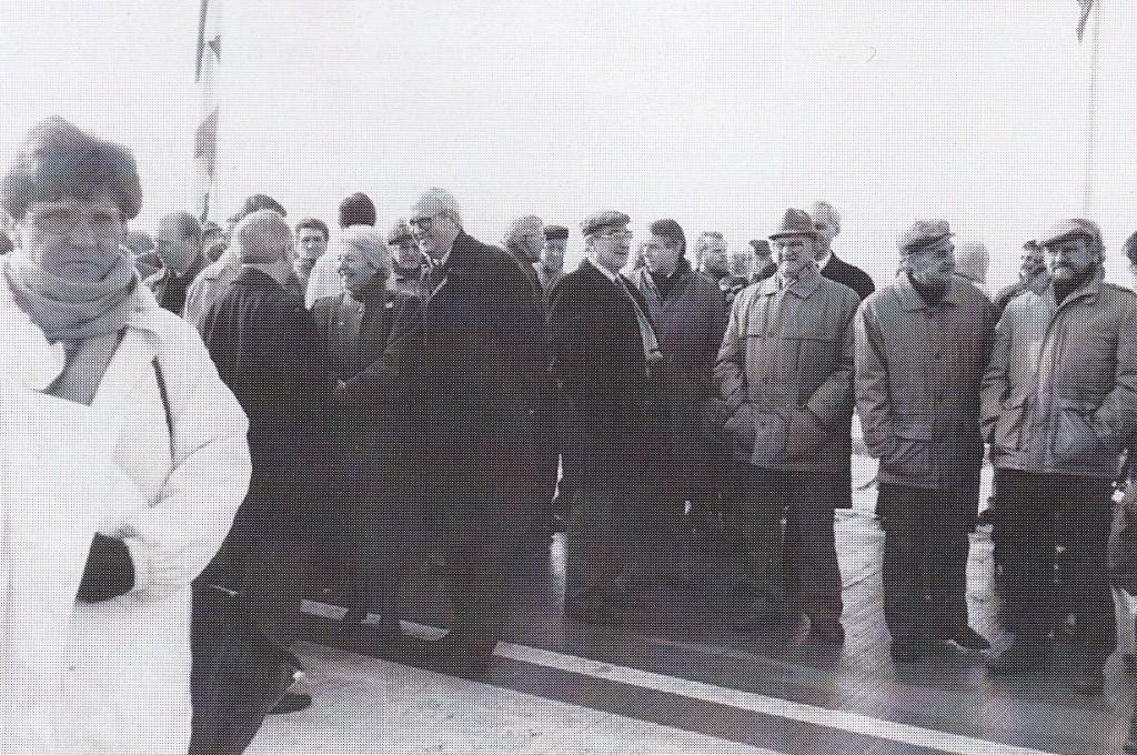 Romé Fasol samen met zijn echtgenote bij de officiële opening van de rondweg rond Nistelrode op 13 november 1997 (foto: J. van der Linden, Nistelrode)
