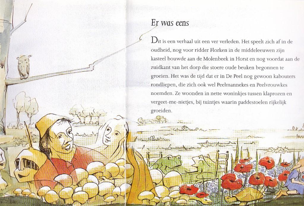 De eerste bladzijden van De Peelkabouters van Horst.