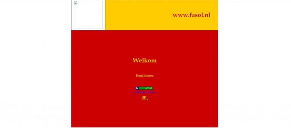 screenshot fasol.nl 2002