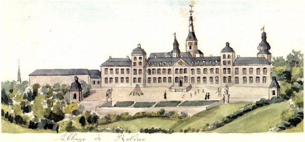 Rolduc, geschilderd door Ph. van Gulpen. Bron: Wikimedia.org