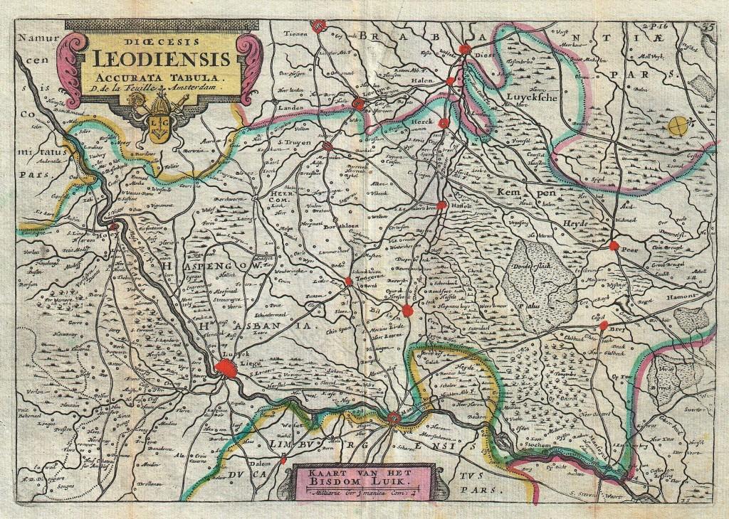 Het wegennet in het Land van Luik.