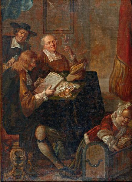 Bij de notaris - Hollandse School (17-18e eeuw)