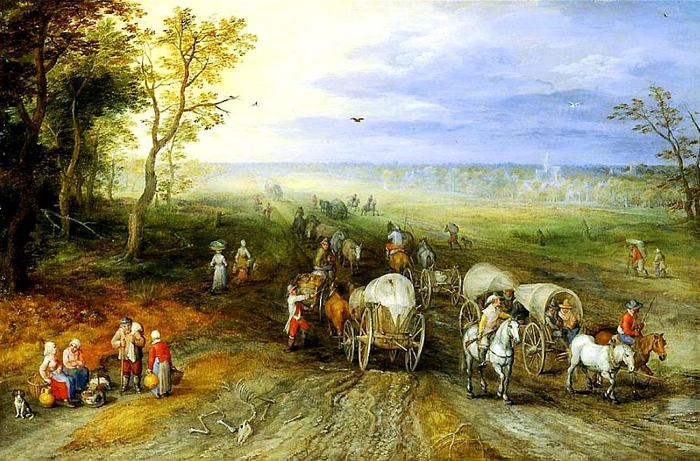 Panoramisch landschap met reizigers – Jan Brueghel de Oudere (1568-1625)