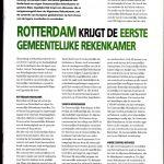 Rotterdam krijgt de eerste gemeentelijke rekenkamer