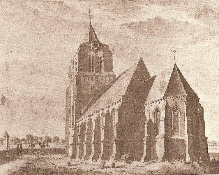 Kerk volgens De Beijer in 1738