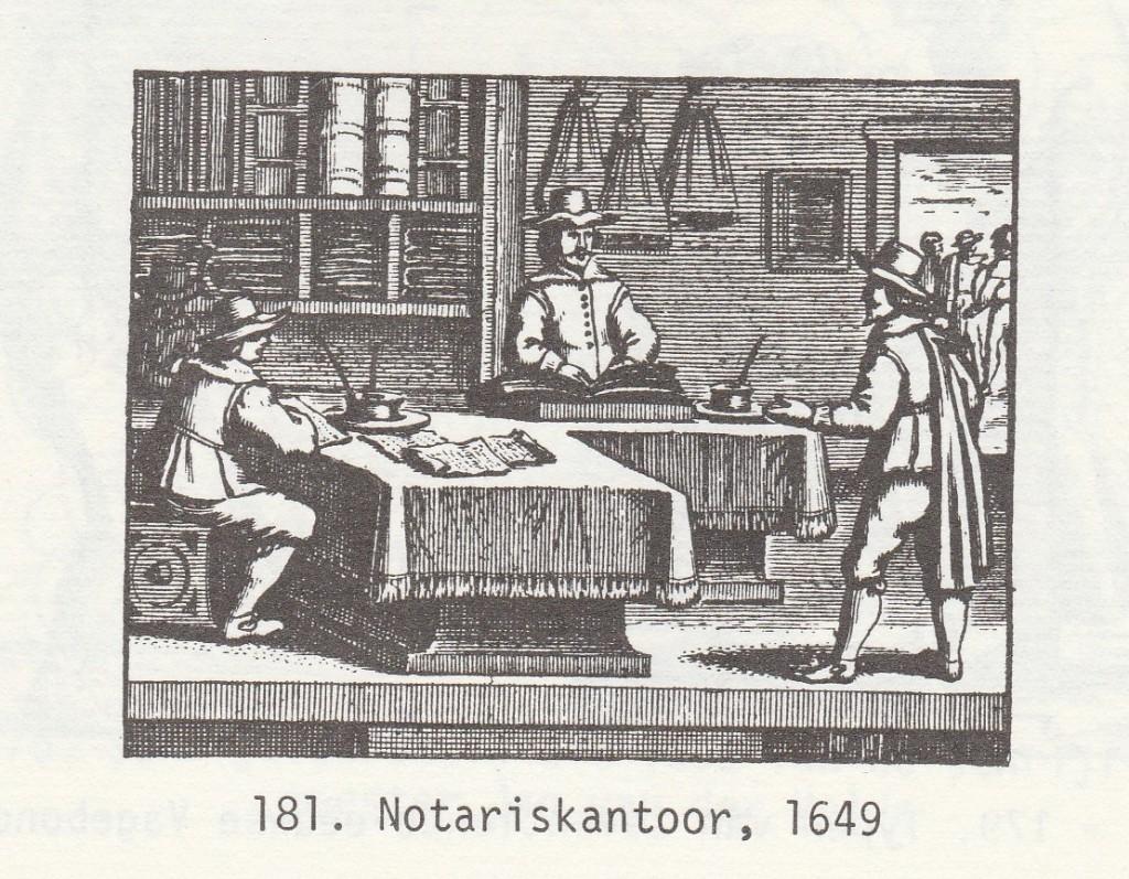 De notaris, 1649