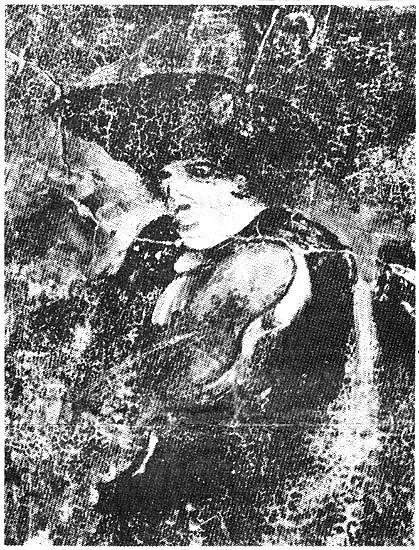 Zelfportret van bokkerijder Arnold van de Wal alias Nolleke van Geleen. Bron: Nationaal Gevangenismuseum.