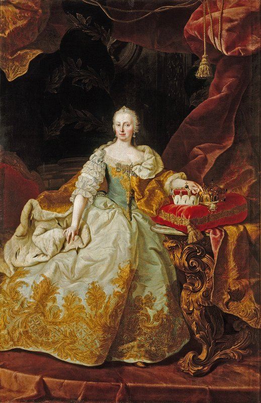 Maria Theresia, geschilderd door Martin van Meytens in 1744.