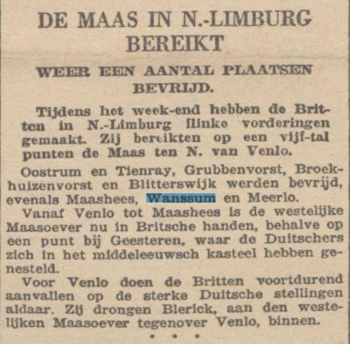 Bron: online krantencollectie van de Koninklijke Bibliotheek.