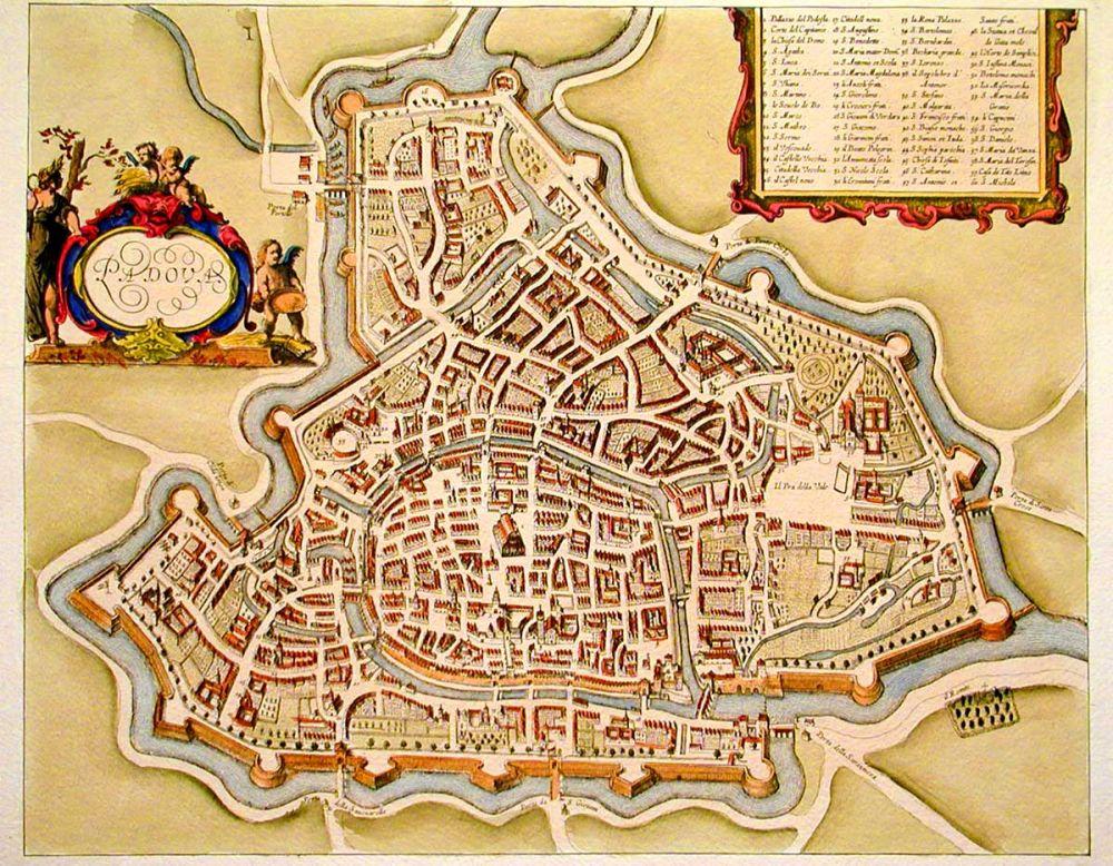 Padua in de Middeleeuwen.
