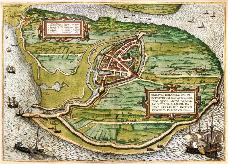 Brielle 1584 Braun en Hogenberg