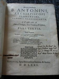 Titelblad Antoninus, Summa sacra Theologiae. 1571.