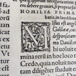 Kapitaal uit Verzamelde werken Bernardus van Clairvaux, 1552.