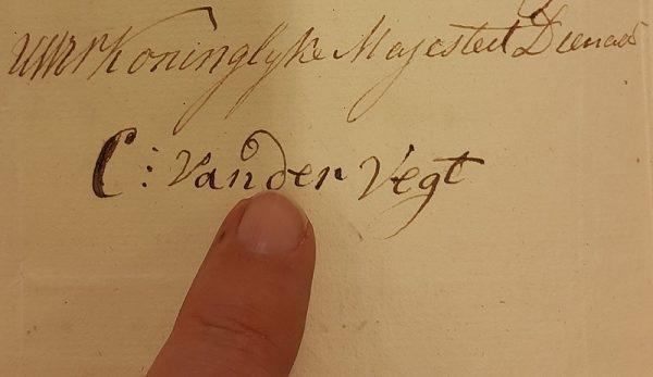Handtekening van Christiaan van der Vegt