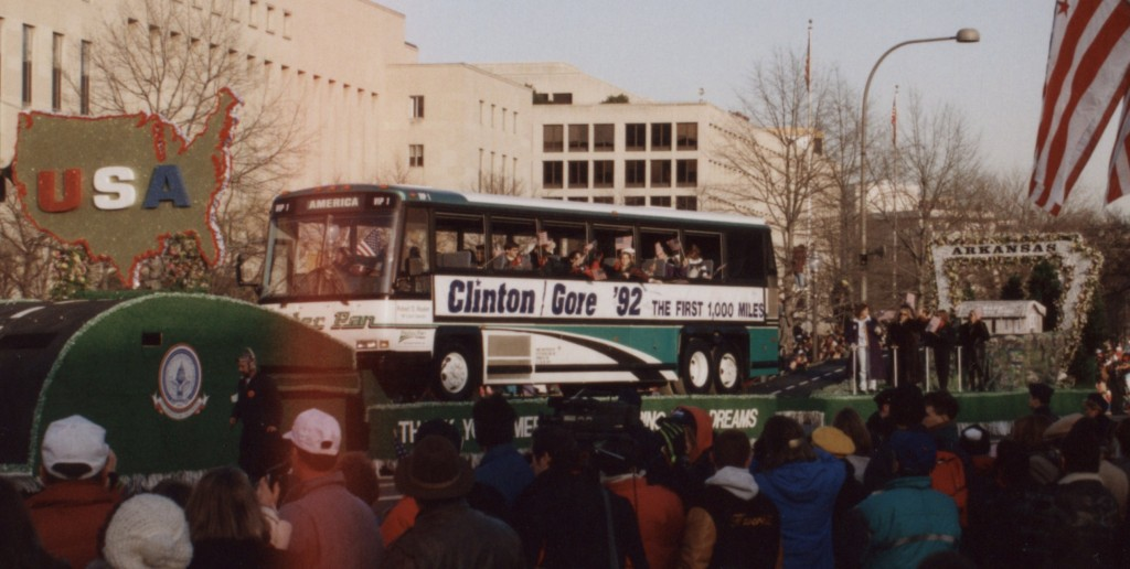 Bill Clinton's campagnebus. Bron: Wikipemedia Commons.