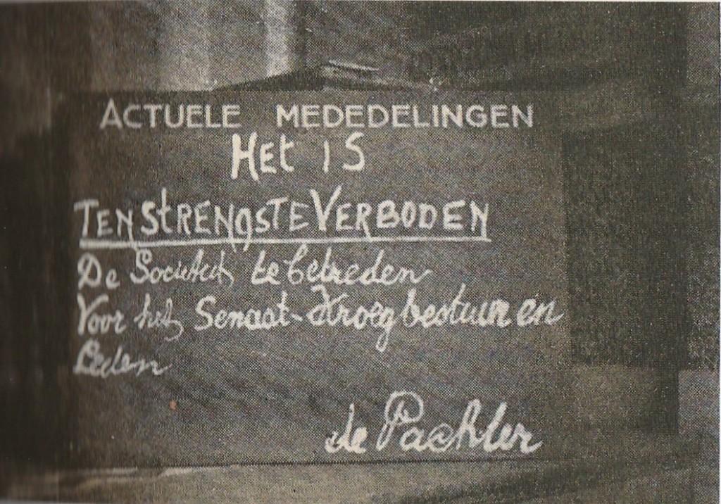 11 juli 1941 werd Symposion door de Duitsers gesloten