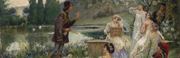 Salvatore Postiglione (1861-1906): Motief uit de vertellingen van Decamerone van Giovanni Boccaccio.
