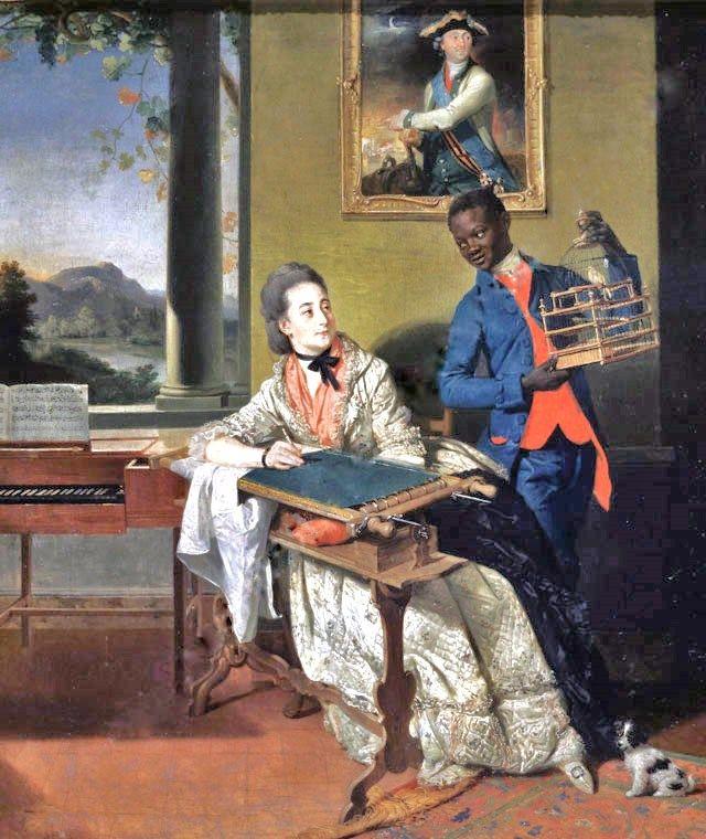 Afrikanen waren in het Nederland van de 18e eeuw geen ongebruikelijke verschijning.
