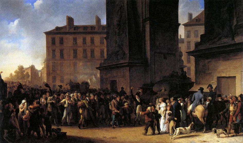 Louis-Léopold Boilly - Depart des conscripts (1807).