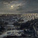 Josef Langl Blick auf Bethlehem bei Nacht
