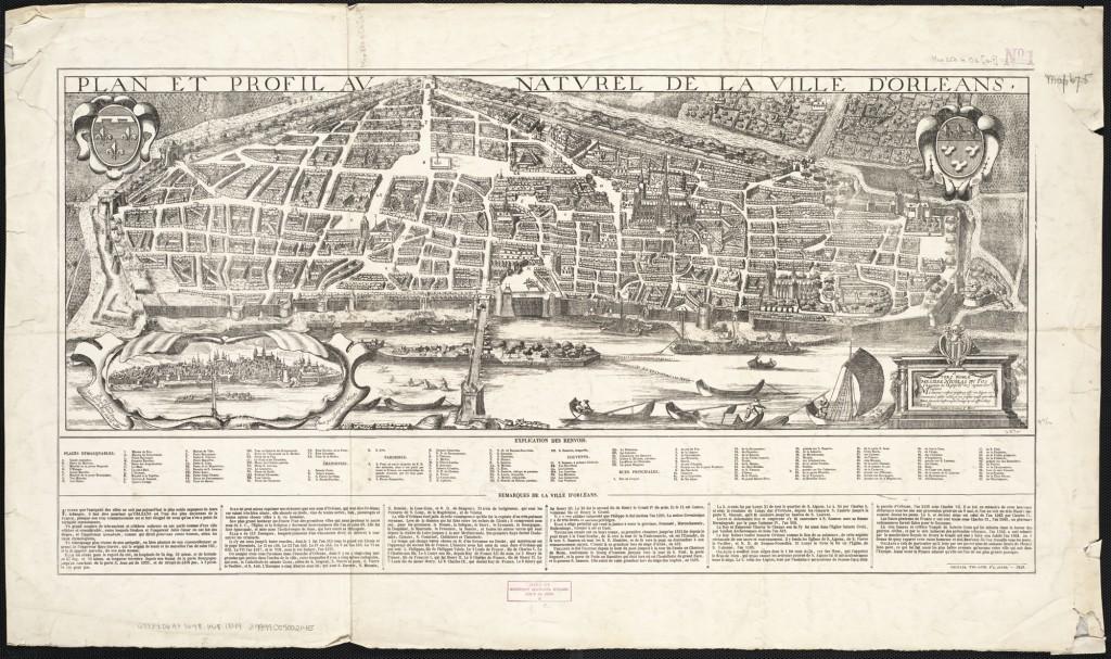 Kaart van Orléans