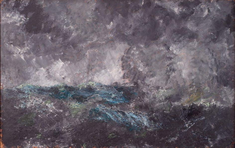"""August Strindberg - Storm in the Skerries. """"The Flying Dutchman"""""""