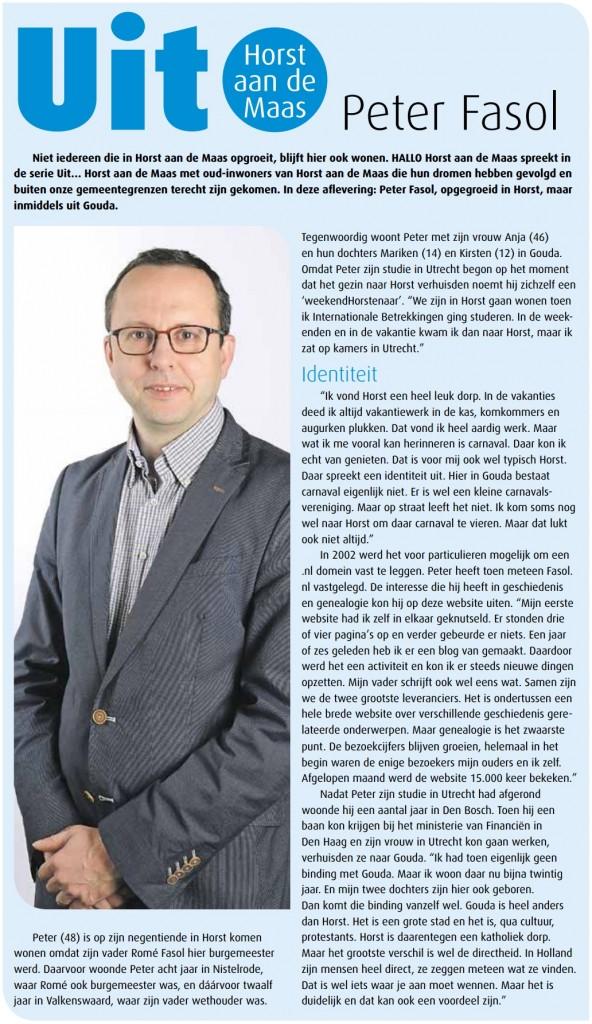 Interview: Uit Horst aan de Maas